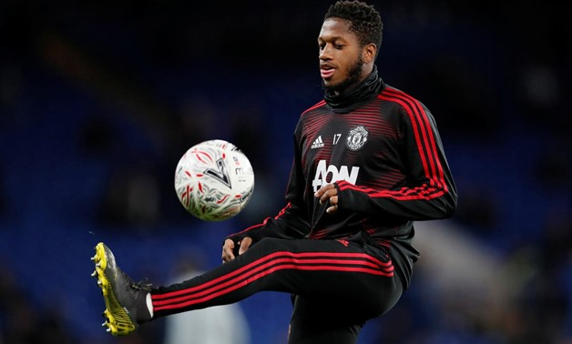 FILE PHOTO: Soccer Football - FA Cup Fifth Round - Chelsea v Manchester United - Stamford Bridge, London, Britain - February 18, 2019 Manchester United's Fred during the warm up before the match REUTERS/David Klein/File Photo