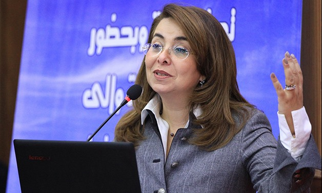 Social Solidarity Ministry, Ghada Wali - Press Photo