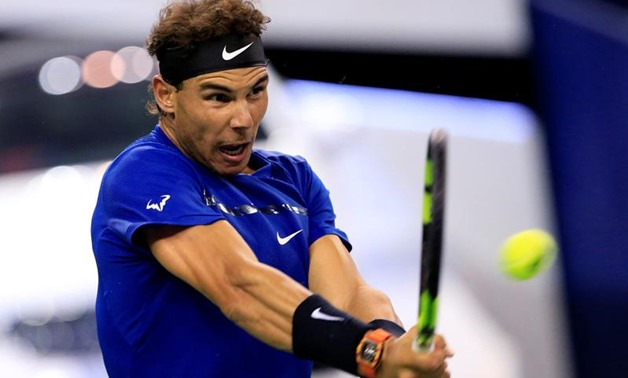 Masters tennis tournament - Shanghai, China - October 12, 2017 - Rafael Nadal of Spain in action against Fabio Fognini of Italy. REUTERS/Aly Song