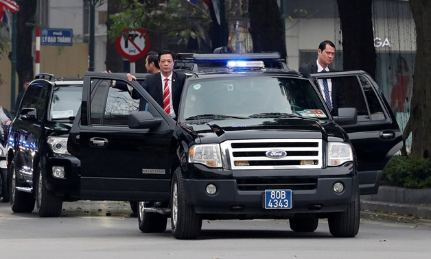 Bodyguards of North Korean leader Kim Jong Un are seen as his motorcade leaves the Metropole after the North Korea-U.S. summit in Hanoi, Vietnam, February 28, 2019. REUTERS/Kim Kyung-Hoon