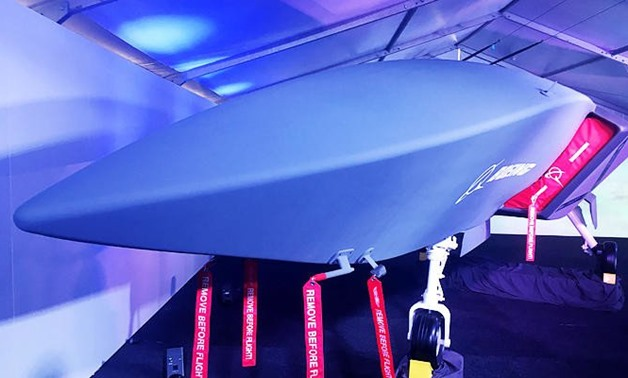 A model of Boeing CoÕs new unmanned, fighter-like jet, called the Boeing Airpower Teaming System, is displayed in Avalon, Australia February 27, 2019. (REUTERS)