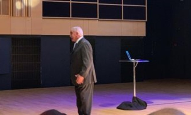The acclaimed Egyptian archaeologist Zahi Hawass during giving a lecture at the Royal Library in Copenhagen - Egypt Today.