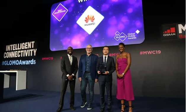 Huawei Consumer Business Group (BG) received an award from the event organizer GSMA at MWC Barcelona 2019