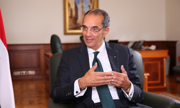FILE: Egypt's Minister of Communications Amr Talaat