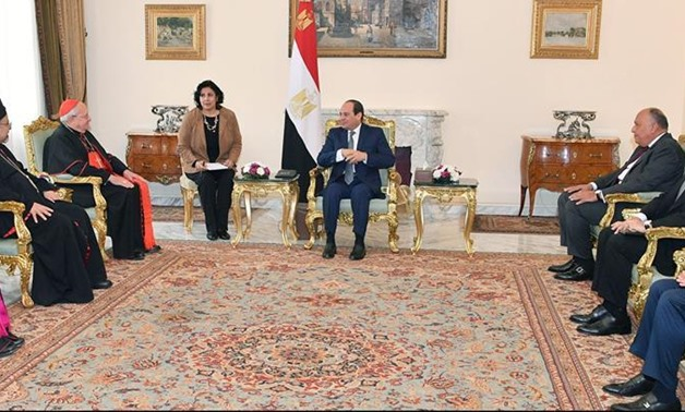 President Sisi, Foreign Minister Shoukri meet with Cardinal Leonardo Sandri – Press photo