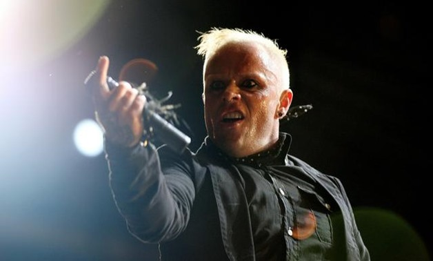 """FILE PHOTO: British singer Keith Flint of techno group """"The Prodigy"""" performs during the first day of the Isle of Wight Festival at Seaclose Park in Newport on the Isle of Wight June 9, 2006. REUTERS/Alessia Pierdomenico."""