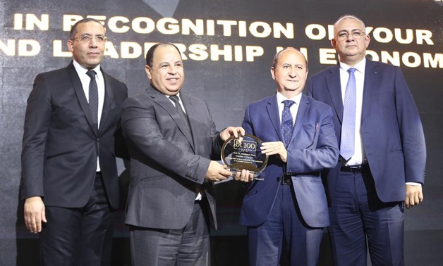 BT100 ceremony honors Minister of Finance, Mohamed Maait - photo via Egypt Today