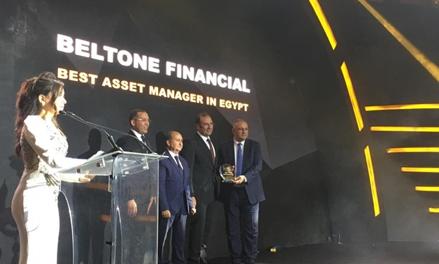 Bassem Azab, CEO Beltone Financial, Beltone Financial, received the bt100 crystal award.