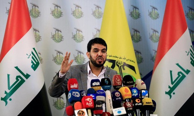 The US has sanctioned Harakat Hezbollah al Nujaba, a radical militia group of about 10,0000 fighters, as well as its leader Akram Kaabi. (Reuters)