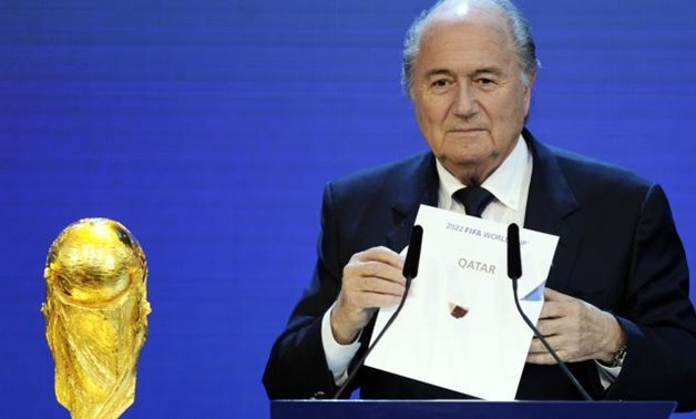 In 2010, then Fifa president Sepp Blatter revealed Qatar as the host of the 2022 World Cup ( Getty )