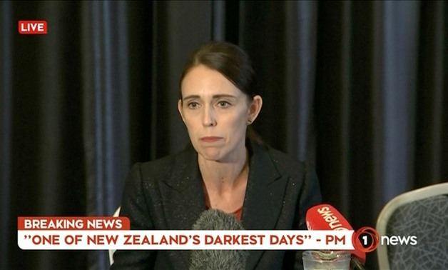 New Zealand's Prime Minister Jacinda Ardern speaks on live television following fatal shootings at two mosques in central Christchurch, New Zealand March 15 - Reuters