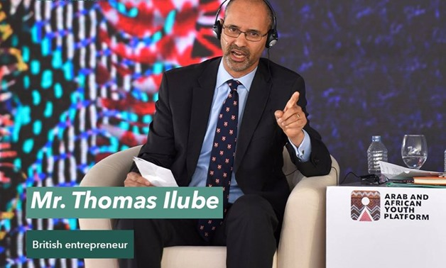 British entrepreneur Thomas Ilube, the founder and chairperson of African Gifted Foundation- Photo courtesy of the World Youth Forum's Facebook page