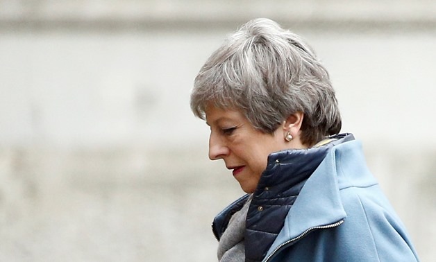 FILE- Britain's Prime Minister Theresa May is seen outside Downing Street in London, Britain March 22, 2019. REUTERS/Henry Nicholls