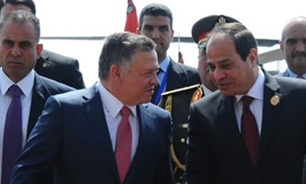 President Sisi receives Jordanian king Abdullah II Sunday