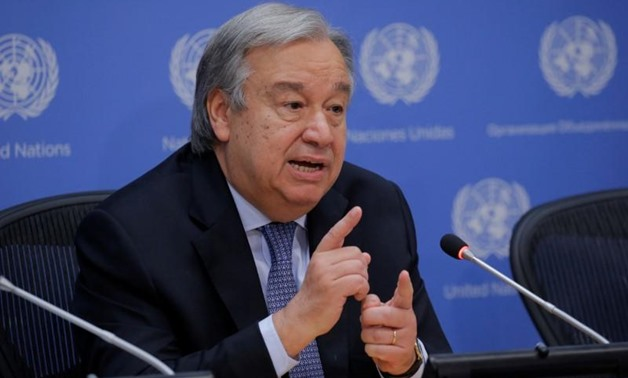 FILE PHOTO: United Nations Secretary-General Antonio Guterres takes part in a news conference at the United Nations headquarters in New York, U.S., June 20