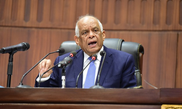 Parliament Speaker Ali abdel-Aal at the House of Representatives - press photo