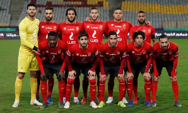 Soccer Football - Egyptian Premier League - El Zamalek v Al Ahly - Borg El Arab Stadium, Alexandria, Egypt - March 30, 2019 Al Ahly players pose for a team group photo before the match REUTERS/Amr Abdallah Dalsh