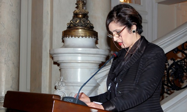 FILE – Naela Gabr, Chair of Egypt's National Coordinating Committee on Preventing and Combating Illegal Migration