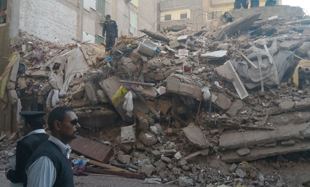 FILE - The collapsed building number 4 in Al-Quds Street, Sidi Gaber, Alexandria, April 6, 2018 – Egypt Today