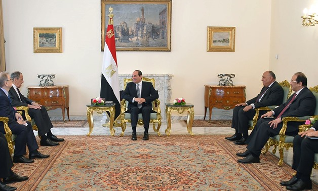 President Sisi meets with Russian Foreign Minister Sergey Lavrov in Cairo-Press photo