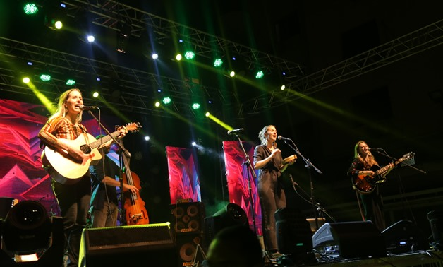 """The T Sisters"" debut performing in Cairo - Courtesy of Nabil Sedki/US Embassy in Cairo"