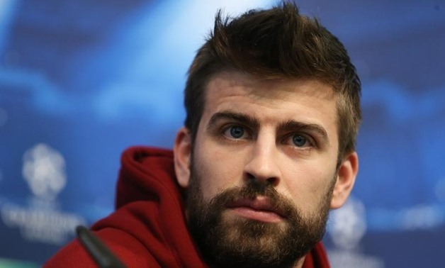 23/2/15 FC Barcelona's Gerard Pique during the press conference Action Images via Reuters / Carl Recine Livepic EDITORIAL USE ONLY. - RTR4QUR6