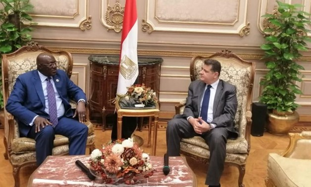 Parliamentarian Tarek Radwan, chairman of the African Affairs Committee of the House of Representatives, received on Monday Sidi Mohamed Tunis, head of the SLPP parliamentary bloc.