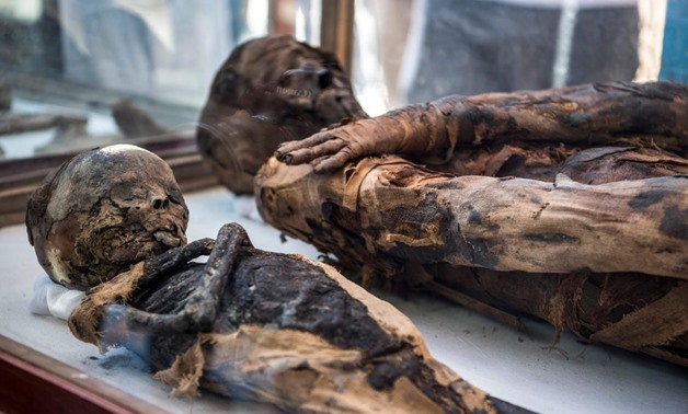 File - A 2,500-year-old mummy of a high priest was unveiled at an ancient cemetery south of Cairo.