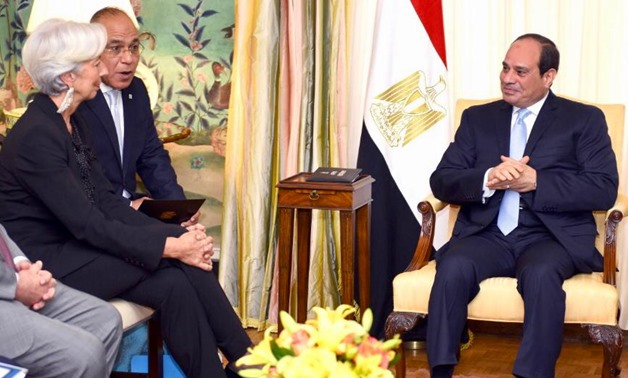 President Sisi meets with Christine Lagarde, managing director of the International Monetary Fund – Press photo