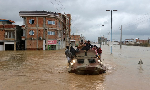 Iran has been facing major flooding for the past two weeks, with dozens of people killed as a result. (Reuters)
