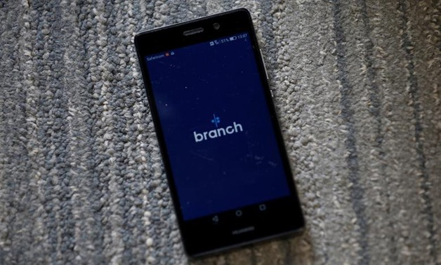 Branch app, an online financial micro lending platform is seen on a mobile phone in this photo illustration taken May 23, 2018. REUTERS/Thomas Mukoya/Illustration
