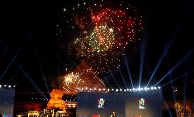 Soccer Football - Africa Cup of Nations Draw - The Great Pyramids, Giza, on the outskirts of Cairo, Egypt - April 12, 2019 General view during the draw REUTERS/Amr Abdallah Dalsh