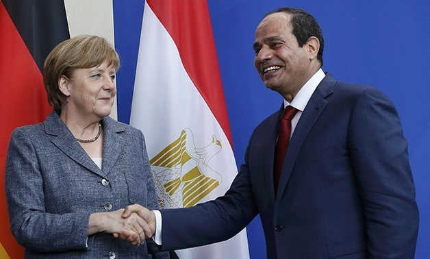 President Abdel Fatah al-Sisi received Monday a phone call from German Chancellor Angela Merkel - File Photo