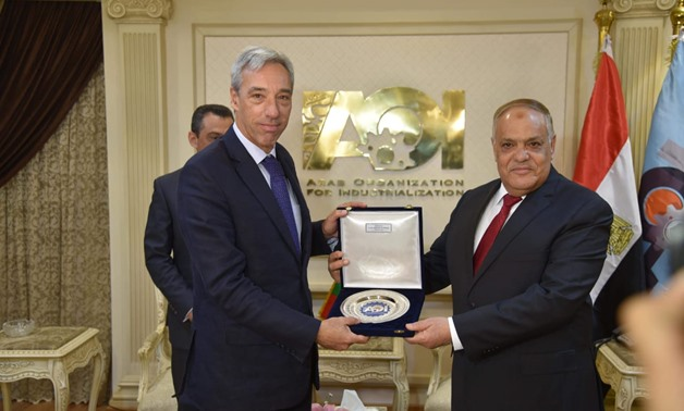 Chairman of the Arab Organization for Industrialization Abdel Monemel Taras held a meeting with Portuguese Minister of Defense Joaa Krauwenho