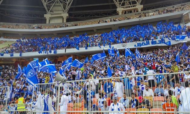 File- Al Hilal fans, photo courtesy of Al Hilal Twitter account