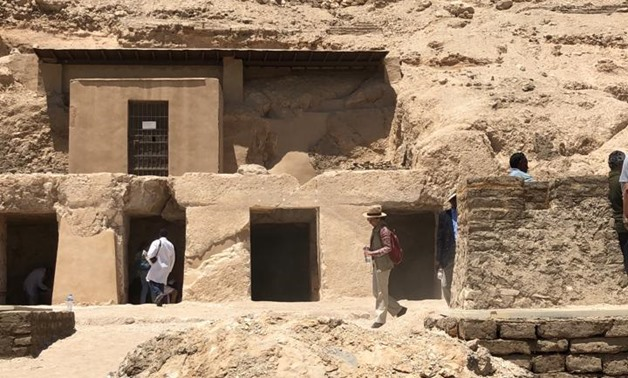 Egypt announced the discovery of a new tomb at the Draa Abul Naga necropolis in Luxor's West Bank on Thursday- Egypt Today/Mustafa Marie
