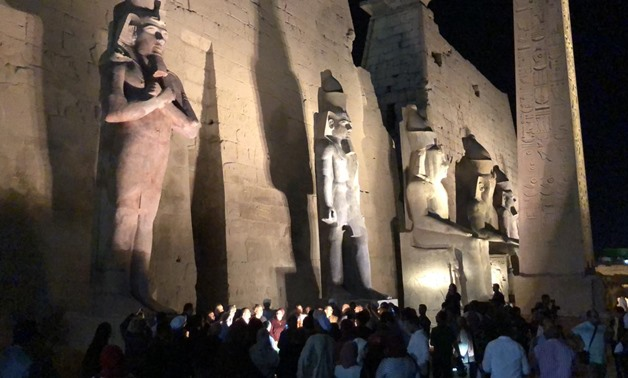 Egypt unveiled a new statue of Ramses II [1279-1213 BCE] Luxor Temple on Thursday after being restored.- Egypt Today / Mustafa Marie