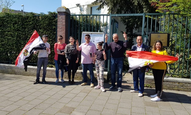Egyptian expatriates voting in Netherlands - Egypt Today