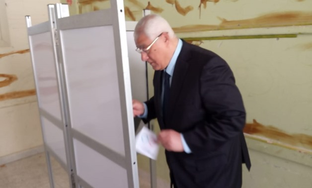 Adly Mansour casts vote