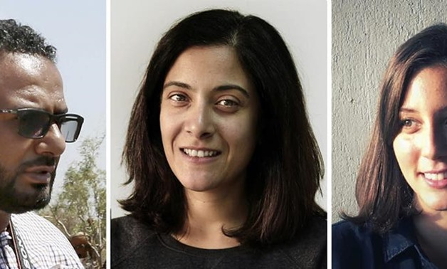 video journalist Maad Al-Zikry, Investigative Journalist Maggie Michael, Egyptian photojournalist Nariman El-Mofty: File