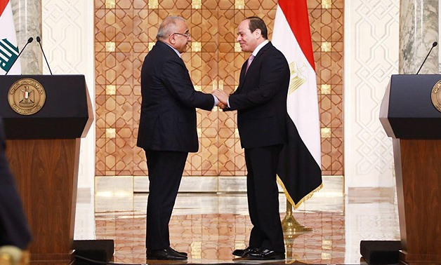 FILE: The Iraqi Prime Minister commended on the positive developments that Egypt has been witnessing on various levels and fields over the recent years.