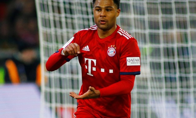 March 2, 2019 Bayern Munich's Serge Gnabry celebrates scoring their fourth goal REUTERS/Thilo Schmuelgen