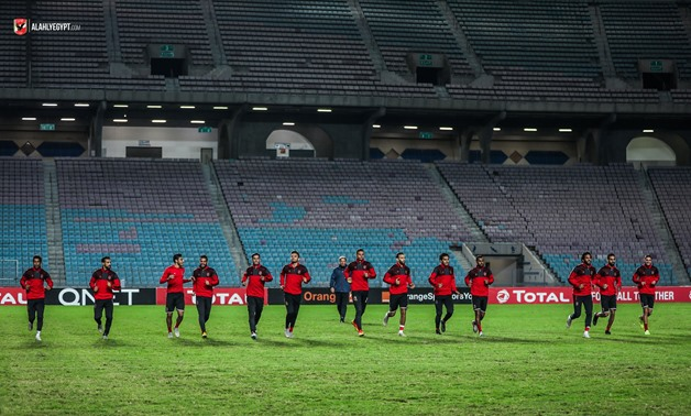 File- Al-Ahly players during a training
