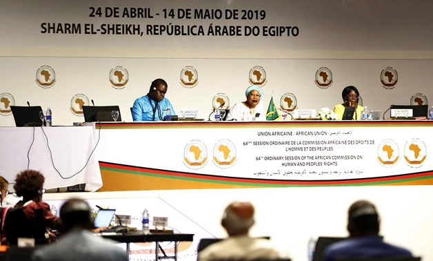 Session on human rights situation in Africa on the fourth day of the 64th Ordinary Session of the African Commission on Human and Peoples' Rights (ACHPR) held in Sharm El Sheikh, Egypt. April 27, 2019. EgyptToday/Maher Eskandar