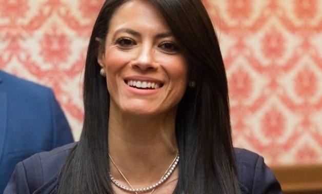 FILE - Minister of International Cooperation Rania al-Mashat
