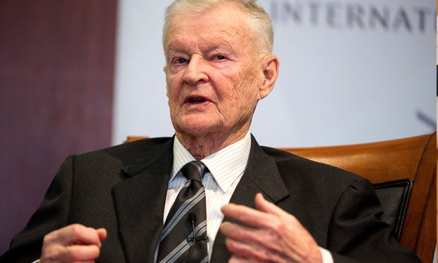 Former U.S. National Security Advisor, Zbigniew Brzezinski, speaks at a forum hosted by the Center for Strategic and International Studies in Washington, March 9, 2015. REUTERS/Joshua Roberts/File Photo