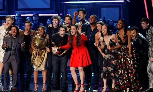 "FILE PHOTO: 2017 MTV Movie and TV Awards - Show – Los Angeles, U.S., 07/05/2017 – Cast of ""13 Reasons Why"" presents Show of the Year. REUTERS/Mario Anzuoni/File Photo"