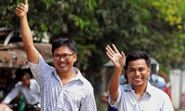 The two reporters, Wa Lone, 33, and Kyaw Soe Oo, 29 - REUTERS