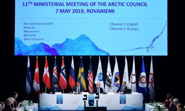 It was the first time the Arctic Council, which held its first meeting in 1996, failed to present a final declaration at the end of a ministerial meeting POOL/AFP