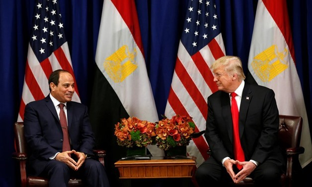 FILE - U.S. President Donald Trump meets with Egyptian President Abdel Fattah al-Sisi during the U.N. General Assembly in New York, U.S., September 20, 2017. REUTERS/Kevin Lamarque